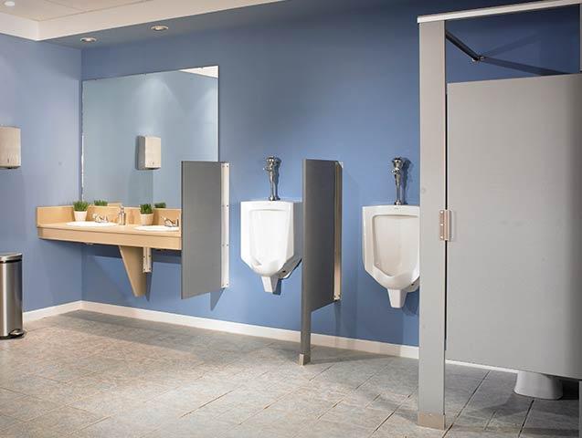 McClain Associates Toilet Partitions Compartments Sales And Amazing Bradley Bathroom Partitions Plans